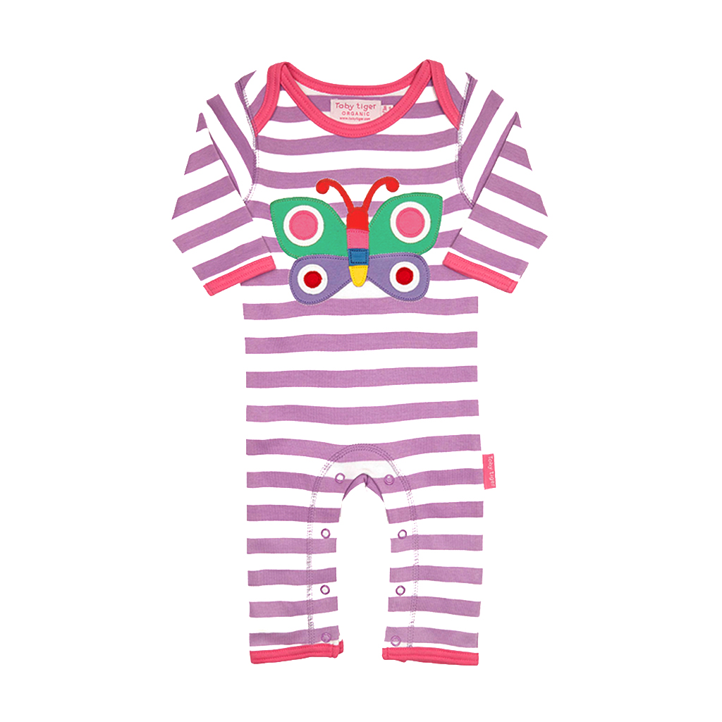 Organic Cotton – Butterfly Baby Boy Sleepsuits